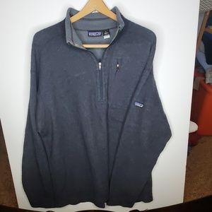 Patagonia grey wool quarter zip sweater